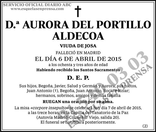 Aurora del Portillo Aldecoa